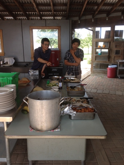 last weeks Thursday Lunch was made by the two Thai exchange students, Benz and ??? It was delicious!
